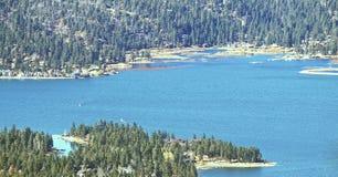 Озеро Big Bear в ноябре Стоковое фото RF