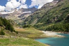 Озеро Bionaz на Aosta Valley Стоковые Изображения