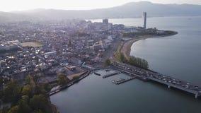 Озеро Biwako сток-видео