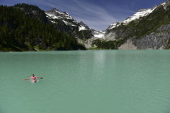 Озеро Blanca, Вашингтон, США стоковая фотография rf