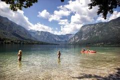 Озеро Bohinj Стоковое Фото