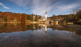 Озеро Bohinj, Slovenija Стоковое Изображение RF
