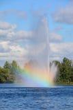 Озеро Boivin и фонтан Стоковое Изображение