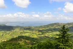 Озеро Bolsena от Montefiascone Стоковое фото RF