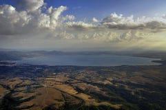 озеро bolsena стоковая фотография rf