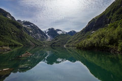 Озеро Bondhus Norwegia Стоковое фото RF