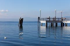 Озеро Bracciano на Anguillara Sabazia Стоковое фото RF