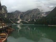 Озеро Braies стоковое изображение