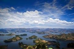 Озеро Bunyonyi, Kabale Стоковое фото RF