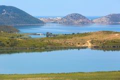 Озеро Butrint соли, Албания Стоковая Фотография RF