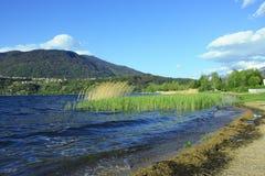 озеро caldonazzo Стоковое Изображение RF