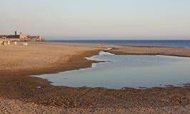 озеро carcavelos пляжа Стоковые Фотографии RF