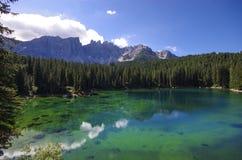 Озеро Carezza Стоковое фото RF