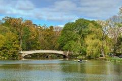 Озеро Central Park, Нью-Йорк, Соединенные Штаты Америки Стоковое Изображение RF