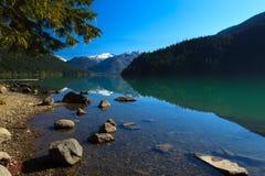 озеро cheakamus стоковая фотография rf