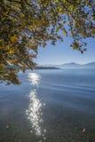 Озеро Chiemsee в осени Стоковое фото RF
