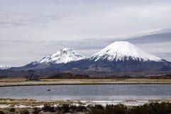 озеро chungara Стоковые Фото