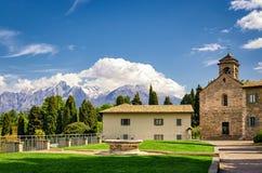 Озеро Como аббатств Piona стоковые фото