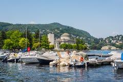 Озеро Como в области Ломбардии городка Como Италии Европы Стоковое Фото