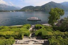Озеро Como осмотренное от виллы Carlotta Стоковая Фотография