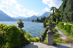 Озеро Como от виллы Monastero Италия Стоковые Изображения RF