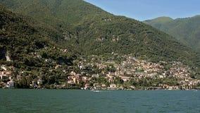 Озеро Como шлюпкой сток-видео