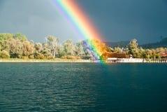 озеро constance над радугой Стоковые Изображения