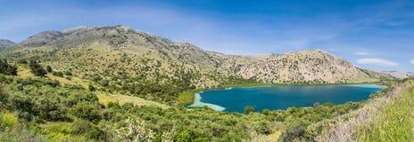 Озеро Cournas на Creete Стоковые Изображения RF