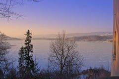 Озеро Czorsztyn от замка Niedzica Стоковое фото RF