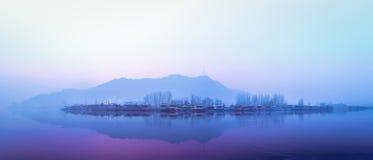 Озеро Dal озеро в Сринагаре, Кашмире, Индии Стоковое фото RF