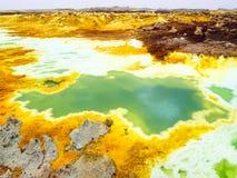 Озеро Dallol в депрессии Danakil, Ehtiopia Стоковое Фото