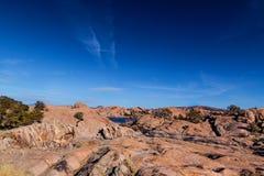Озеро Dell-верб AZ-Prescott-гранита Стоковая Фотография