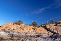 Озеро Dell-верб AZ-Prescott-гранита Стоковое Изображение