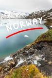 Озеро Djupvatnet, Норвегия Стоковые Изображения