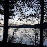 Озеро Donner на сумраке стоковые фотографии rf