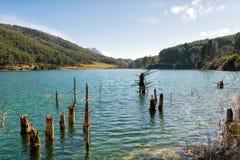 Озеро Doxa в Греции Красивое назначение природы стоковое изображение
