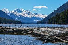 Озеро Duffey, ДО РОЖДЕСТВА ХРИСТОВА, Канада Стоковая Фотография RF