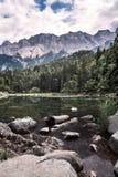 Озеро Eibsee в Bayern Германии стоковое изображение rf