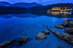 Озеро Eibsee Стоковая Фотография