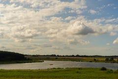 Озеро Eixen в лете стоковое фото