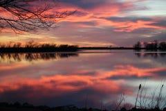 Озеро El Dorado на заходе солнца стоковые фотографии rf