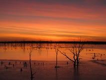 Озеро El Dorado на заходе солнца Стоковая Фотография