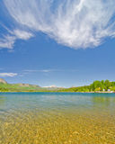 Озеро Electra в горах Сан-Хуана в Колорадо стоковые фотографии rf