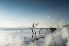 Озеро Erhai в утре Стоковые Изображения
