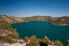 Озеро Esparron, франция стоковое изображение
