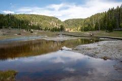Озеро Firehole стоковые изображения