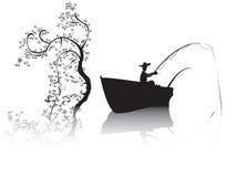 озеро fisher иллюстрация вектора