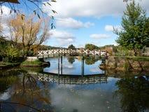 озеро footbridge сверх Стоковое фото RF