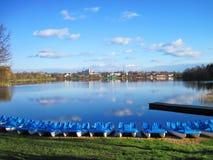 Озеро Galves, Литва стоковые фото