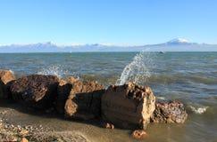 Банк Lago di Garda Стоковые Фото